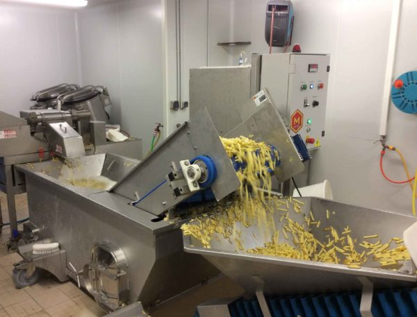 hydrocooling bac de trempage salade carotte pomme de terre frites